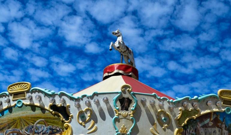 merry-go-round in Beaune