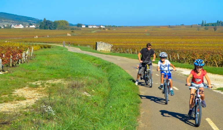 cycling in cote de beaune
