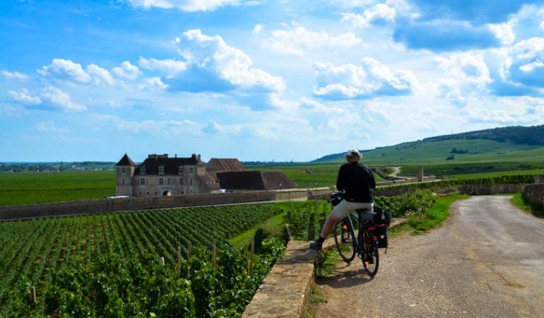 Visit Clos de Vougeot on bike