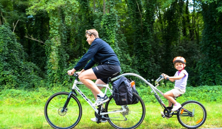 biking with family